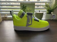 MENS NIKE AIR FORCE 1 UTILITY SIZE 13 AO1531 700 VOLT WHITE BLACK