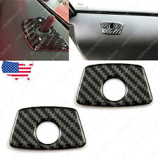 2x Carbon Fiber Door Lock Pin Stickers Protection Cover Trim for BMW 1 3 5 7 X3