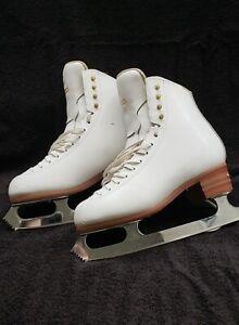 womens 7.5 jackson elle white figure skates