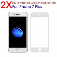 2X Premium 3D Full Cover Glass Screen Protector for Apple iPhone 7 Plus White