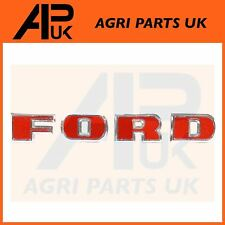 Ford 2000 3000 4000 5000 Series Tractor Upper Grille Chrome Letter Badge Set