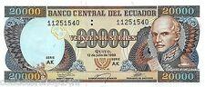 Ecuador 20000 Sucres 1999-07-12 Unc pn 129g.2