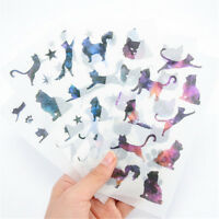 6pcs Star Cats Label Stickers Set Stationery Scrapbooking Decor DIY Diary AlPJU