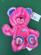 Build a Bear Full Size Unstuffed Fuchsia Pink Donut Teddy Bear Plush Toy - New