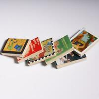 1:12 Hot Wooden Doll House Miniature Books For Dollhouse Kits Room A7J0