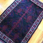 Handmade Afghan Kazakh Accent Rug 3x4, Geometric Design, Tribal Patterns Nomadic
