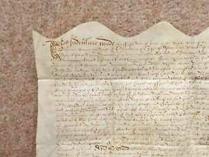 1609 Erdington Birmingham 17th century King James Vellum Deed Document Indenture