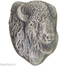 10 TROY OUNCE .999 FINE SILVER HAND POURED BISON BULLION PREMIUM BAR BISON HEAD