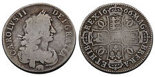 More details for charles ii halfcrown 1666/4 great britain elephant below bust silver coin