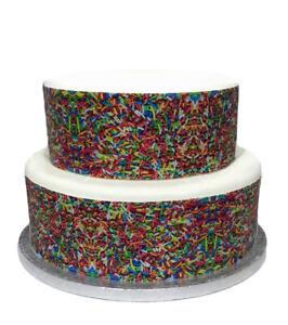 A4 Edible Decor Icing Cake Sprinkles hundreds thousands Ribbon Border Edging