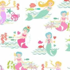 Merryn Scenic TP-2001-1 Cotton Quilt Fabric Mermaids by Andover BTY