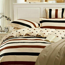 Fashion 100% Cotton King Bed Size Quilt Doona Duvet Cover Pillowcase Set - S
