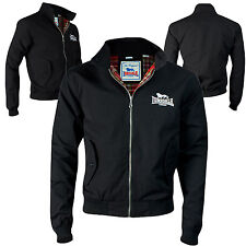 Lonsdale Harrington Jacket Black Classic England Style Slim-Fit
