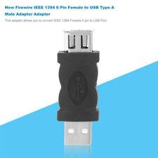 Firewire IEEE 1394 6 Pin Female F to USB M male Adaptor Converter New
