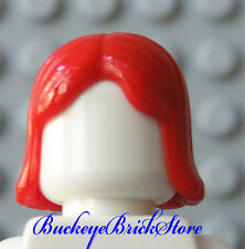 NEW Lego Female Minifig RED HAIR - Middle Part Girl Boy Castle Town