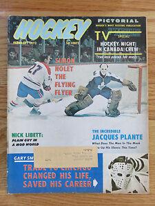 Hockey Pictorial February 1972 JACQUES PLANTE TORONTO MAPLE LEAFS Magazine