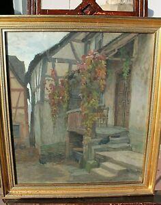 """""""Motiv in Neuweilau/Taunus""""Emil Schneider ,(Straßburg 1873-1933Wiesbaden)Pastell"""