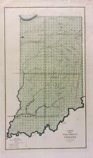 Indiana Public Land Survey Map 1849       *********** ORIGINAL *************