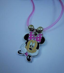 💗 Damen Mädchen Minnie Mouse Mickey Maus Anhänger inkl. Kette rosa - NEU