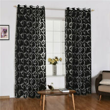 1pc Bedroom Circles Pattern Panel Drape Decoration Printed Window Curtain FM