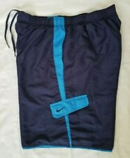 Mens Size Large Navy Blue Nike Swim Shorts Ness7472 prowned