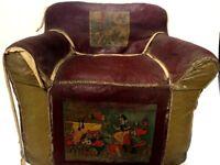 1938 Stamped Snow White & 7 Dwarfs Disney Princess Movie Premiere Antique Chair