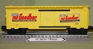 K-Line 6467 Hershey's Chocolate Mr. Goodbar Boxcar (O/027 ga) wks w/ Lionel 91