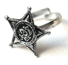 Deputy Sheriff Stern Ring Star Größe variabel USA 1960er original neu