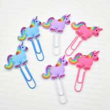 2X Unicorn Bookmark Book Markers Paper Clip School Student Stationery Kids Gift