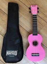 Mahalo Rainbow Pink Ukulele With Aquila Strings