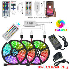 5M/10/15M LED Strip Light 5050 SMD RGB 60Leds/m Waterproof Bluetooth Controller