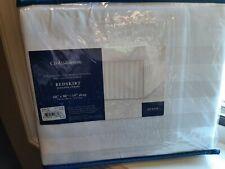 "Croft & Barrow Queen Damask Stripe Bed skirt White New 14"" drop"
