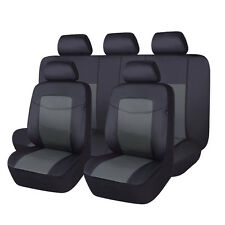 Car seat covers set PU leather universal bench split 40/60 50/50 60/40 charcoal