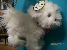 "NEW RARE FUZZY NATION ""LOVE ON A LEASH"" BICHON FRISE PUPPY PURSE HANDBAG>WHITE"