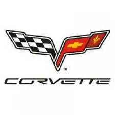 "Chevrolet Corvette Vinyl Decal With Flag 1.25"" x 4"" Free Shipping"