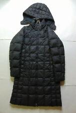 Patagonia Women's M Full Zip Duck Down Parka Jacket Long Downtown Black Hooded