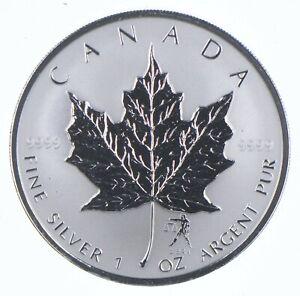 2004 Canada 5 Dollars 1 Oz Silver Maple Leaf Libra Privy Mark World Coins *659