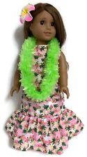 fc1b4e08d225a Pink Hawaiian Dress, Green Lei, & Hair Clip for 18