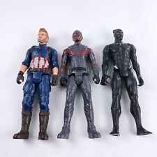"""11.5"""" Marvel Avengers Infinity War Captain America Black Panther Falcon Figures"""