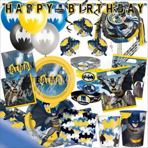 Batman Superhero Party Decorations Tableware Supplies Birthday Balloons Favours
