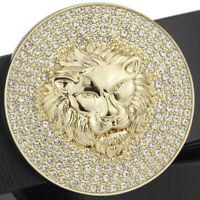 LION DIAMONDS MENS WOMENS PIN BUCKLE ONLY FOR 38 MM BELTS UNISEX BELT BUCKLES