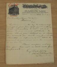 "1898 FRESNO CA Business LETTERHEAD~""DONOHOO EMMONS & Co"" Hardware~Mariposa & 'I'"