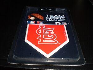 "St Louis Cardinals Team Spirit Magnet. 3"" x 3"". Shape of Home Plate Free Ship"