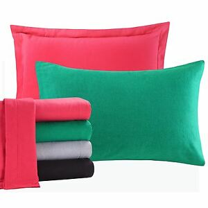 Soft Cosy 100% Pure Brushed Cotton Flannelette Thermal Pillow Cases