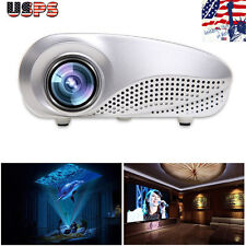 5000 Lumen Mini Home Multimedia Cinema LED Projector 1080P AV TV VGA USB HDMI ee