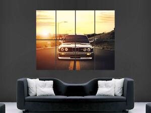 BMW E30 M3 BLACK CAR POSTER FAST SPEED RACING SPORT WALL ART SUNSET SKY