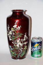 Large Vintage Japanese Cloisonne Meiji Vases Ginbari foil Attributed Ando Jubei