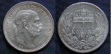 MONETA COIN UNGHERIA HUNGARY 1 KORONA 1915 FRANZ JOSEPH ARGENTO SILVER SILBER #2
