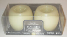 Flameless Real Wax LED Candles Vanilla Scent 2 Pack Realistic Wick Design New