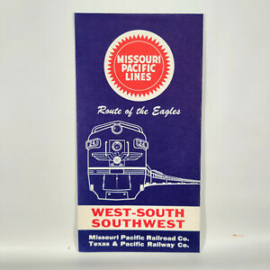 1960s Missouri Pacific Lines Railroad Ticket Folder Jacket NOS Route of Eagles